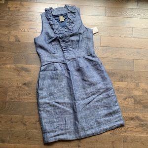 Taylor Sleeveless Jean Dress, Size 14